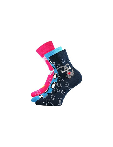 Ponožky Boma Xantipa 57 - balení 3 páry v barevném mixu