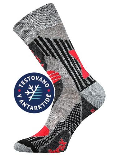 VISION sportovní ponožky VoXX s Merino vlnou Světle šedá