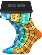 Pánské ponožky Lonka WEBOX 010- balení 3 různé páry v krabičce