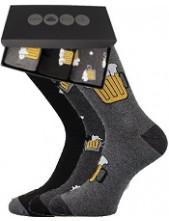 Pánské ponožky Lonka WEBOX 008- balení 3 různé páry v krabičce