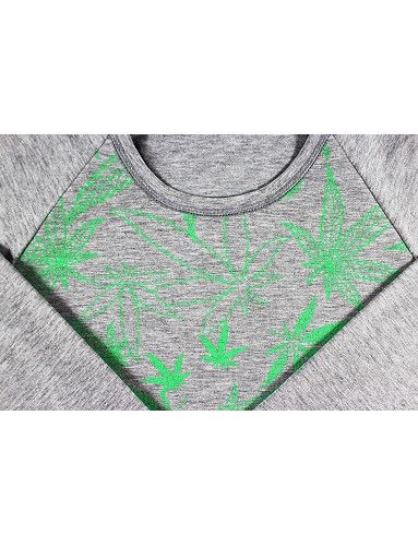 Pánské pyžamo LOPPING dlouhé, tráva/celotisk/melé