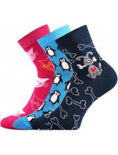 Ponožky Boma PRUHANA 14 - balení 3 páry v různých barvách