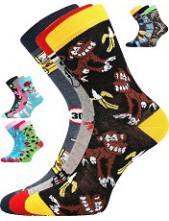 Dětské ponožky Boma 057-21-43 IX - balení 3 různé páry v barevném mixu