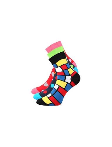 Ponožky Boma PRUHANA 15 - balení 3 páry v různých barvách