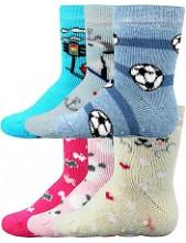 Kojenecké ponožky Boma DONA ABS protiskluzové - balení 3 páry v barevném mixu