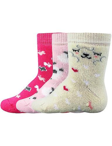 Kojenecké ponožky Boma DONA ABS, mix holka