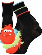 Dětské ponožky Boma BUBU - balení 3 páry v barevném mixu