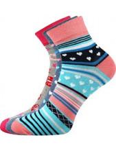 Ponožky Boma JANA 51 - balení 3 páry v barevném mixu