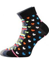 Ponožky Boma JANA 52 - balení 3 páry v barevném mixu