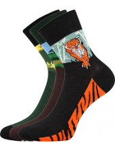 Ponožky Boma Xantipa 58 - balení 3 páry v barevném mixu
