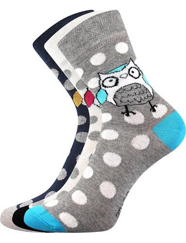 Ponožky Boma Xantipa 60 - balení 3 páry v barevném mixu