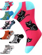 Dámské ponožky Boma DUO 01 - balení 2 různé páry