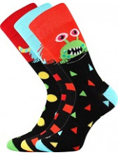 Ponožky Lonka UFON - balení 3 páry v barevném mixu