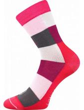 Dětské ponožky Lonka BAMCUBIK, mixB/holka, magenta
