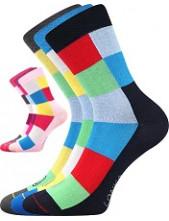 Dětské ponožky Lonka BAMCUBIK - balení 3 různé páry v barevném mixu