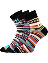 Ponožky Boma JANA 53 - balení 3 páry v barevném mixu