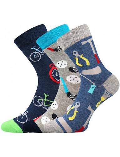 Dětské ponožky Boma 057-21-43 10/X, mix A kluk X