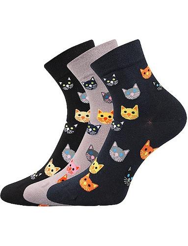 Ponožky Lonka FELIXA, mix A, kočičky