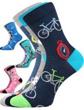 Dětské ponožky Boma 057-21-43 10/X - balení 3 různé páry v barevném mixu