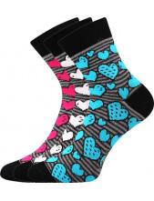 Ponožky Boma IVANA 59 - balení 3 páry v barevném mixu