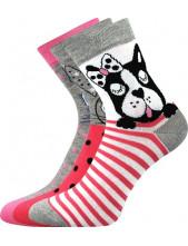 Ponožky Boma Xantipa 63 - balení 3 páry v barevném mixu
