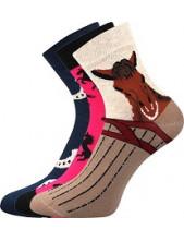 Ponožky Boma Xantipa 64 - balení 3 páry v barevném mixu
