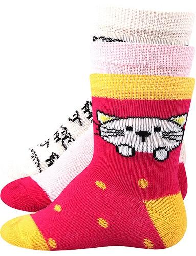 Kojenecké ponožky Boma BEJBIK, mix B holka