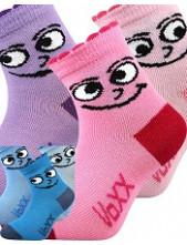 Kojenecké ponožky VoXX KUKIK - balení 3 páry v barevném mixu