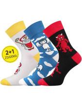 Dětské ponožky Lonka DEVIL - 1 balení 3 různé ponožky