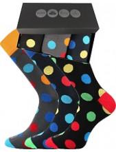 Pánské ponožky Lonka WEBOX 009 - balení 3 různé páry v krabičce
