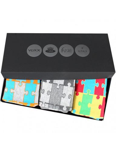 Pánské ponožky Lonka WEBOX 011 - balení 3 různé páry v krabičce