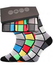 Pánské ponožky Lonka WEBOX 013 - balení 3 různé páry v krabičce