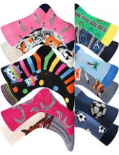 Dětské ponožky Lonka DOBLIK - balení 3 různé páry různých ponožek