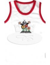 Dívčí košilka Boma KR 002 N bílo-magenta