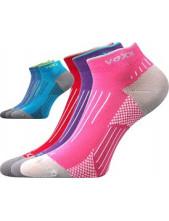 Dětské sportovní ponožky VoXX AZULIK - balení 3 páry v barevném mixu