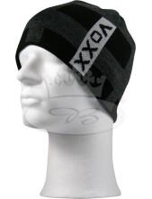 Čepice VoXX Camry šedá (šedý nápis na černé čepici)