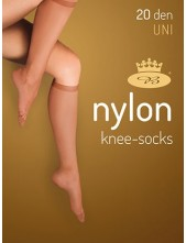 Dámské podkolenky NYLONknee-socks 20DEN - balení 2 páry
