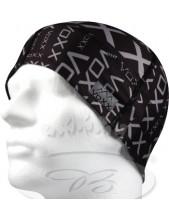 Funkční čapka VoXX CEPAN, vzor 7 (černá s šedým písmem)