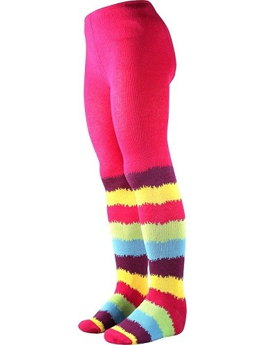 Dívčí punčocháče (98-146) Boma MAX, vzor 36, barevné pruhy