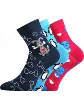 Ponožky Boma Xantipa Mix 42, obrázek kočka