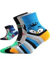 Dětské ponožky Boma 057-21-43 Kluk VI, Balení 3 různé páry