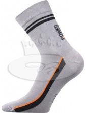 Ponožky Boma Power světle šedá