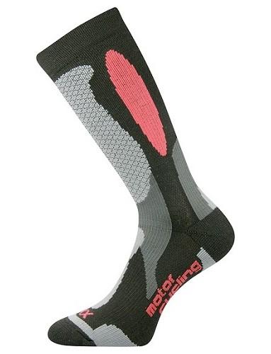 ENGINE motorkářské ponožky VoXX, černo-červená