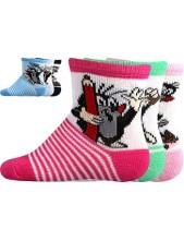 KRTEČEK slabé kojenecké ponožky Boma - balení 3 páry