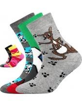 SIBIŘ 05 ABS dětské ponožky Boma protiskluzové - balení 3 páry