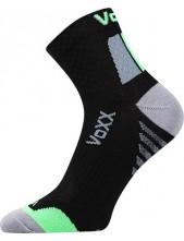 Ponožky VoXX - KRYPTOX, černá-zelená - balení 3 páry