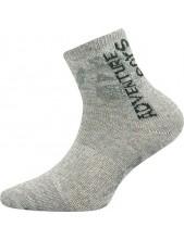 ADVENTURIK dětské sportovní ponožky VoXX, - balení 3 páry světle šedá melír