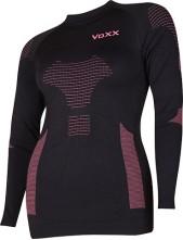 Termoprádlo - VoXX AP 06 dámské tričko dlouhý rukáv, černo-magenta