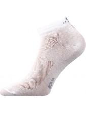 Dámské ponožky Boma PIKI Mix 30, bílá + motýlci na patě a nártu