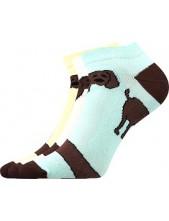 Ponožky Boma Piki Mix 33B jezevčíci - balení 3 páry